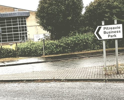 Entrance to Pitreavie Business Park